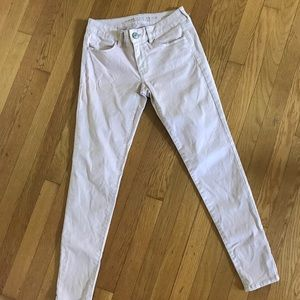 AE Pale pink jeans (with shimmer)